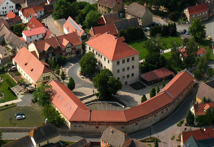 Hotel Resort Schloss Auerstedt in Bad Sulza, Vogelperspektive