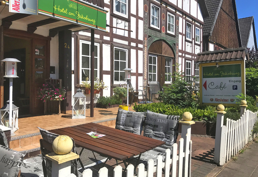 Hotel Höxter am Jakobsweg im Weserbergland, Außenansicht