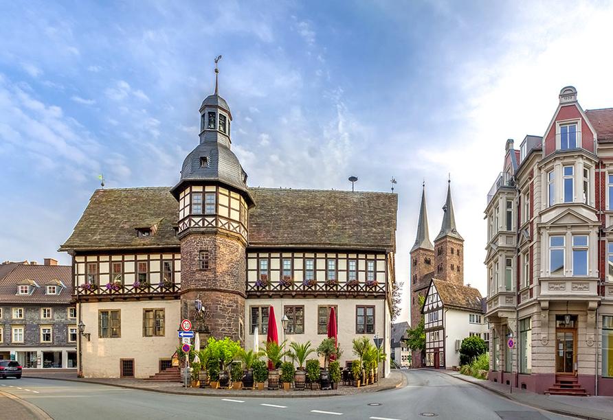 Hotel Höxter am Jakobsweg im Weserbergland, Historisches Rathaus von Höxter