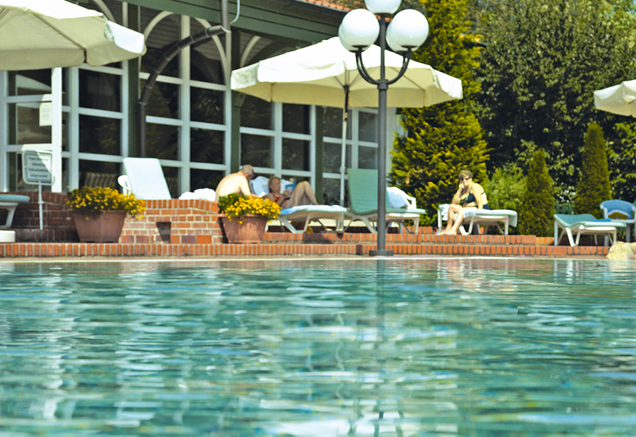 Hotel Resort Birkenhof in Bad Griesbach im bayerischen Bäderdreieck, Außenpool Poseidontherme