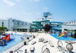 Hotel Sandra Spa in Pogorzelica, Außenbereich