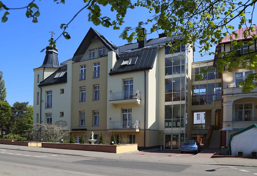 Hotel Villa Merry in Swinemünde, Außenansicht