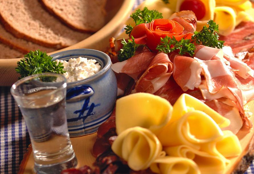 Ferienhotel Alber in Mallnitz in Kärnten Brotzeit