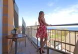 Hotel Villa Martini in Misdroy an der polnischen Ostsee, Blick vom Balkon