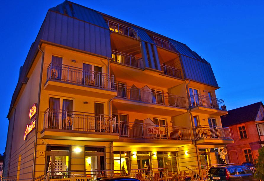 Hotel Villa Martini in Misdroy an der polnischen Ostsee, Außenansicht