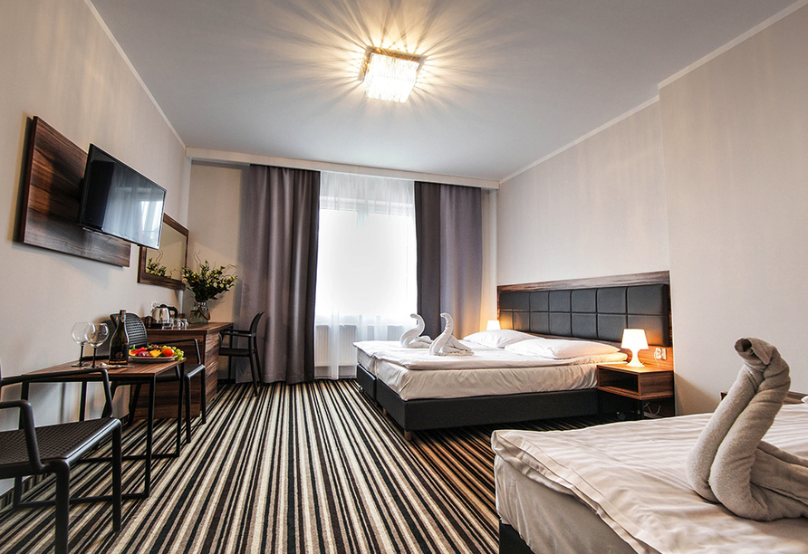 Hotel New Corner in Niechorze, Zimmerbeispiel Zustellbett