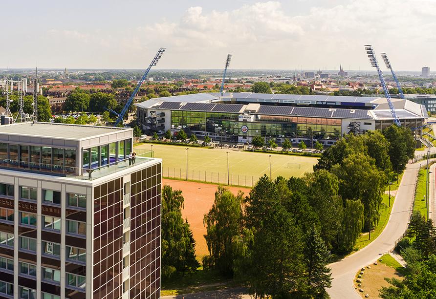 Hotel Sportforum in Rostock, Aussenansicht
