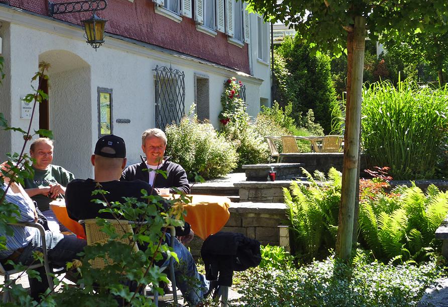 Hotel Sternen, Unterwasser, Toggenburg, Schweiz, Terrasse und Garten