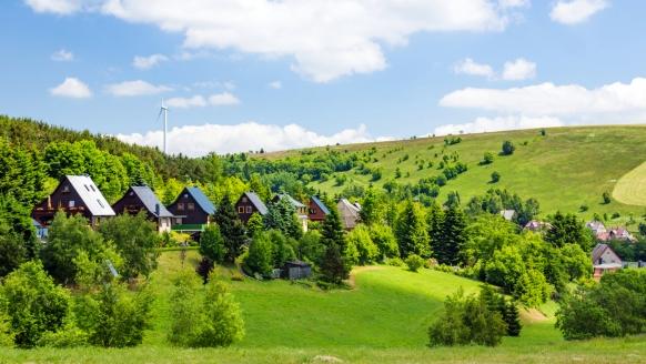Landhotel Osterlamm im Erzgebirge, Landschaft