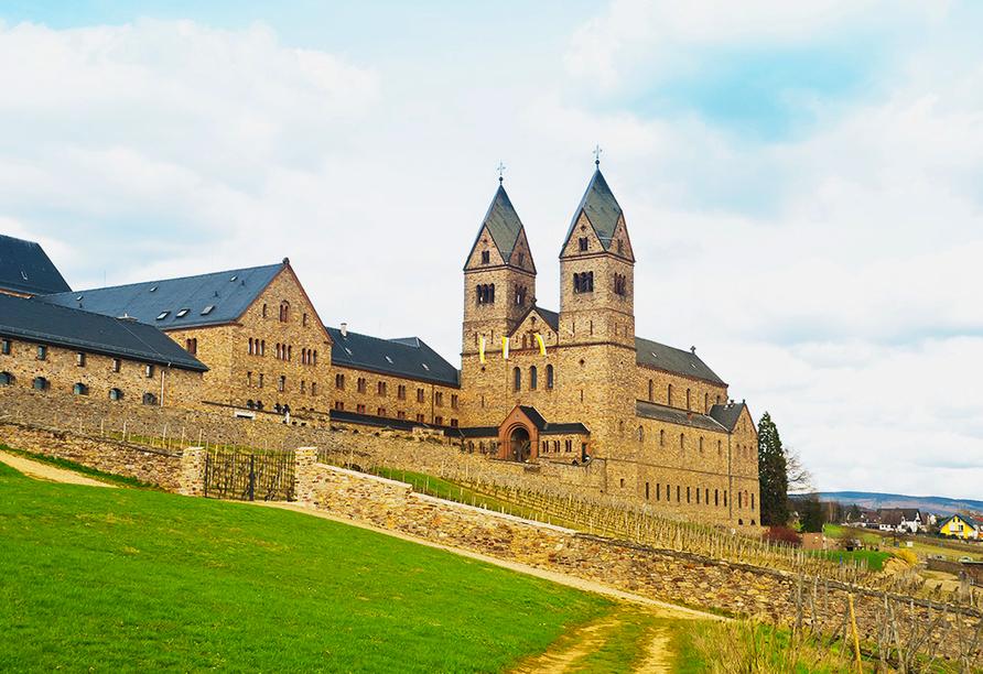 Hotel Rheinstein in Rüdesheim, Benediktinerabtei Rüdesheim