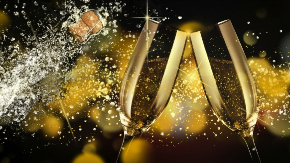 Ein frohes neues Jahr wünscht Ihnen das Hotel Linderhof in Erfurt!