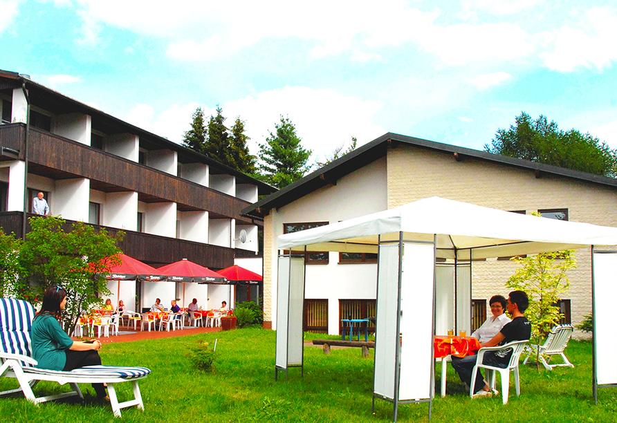 Hotel Im Kräutergarten in Cursdorf im Thüringer Wald, Garten