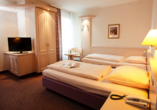 Hoteltraube in Rüdesheim Hessen, Zimmerbeispiel