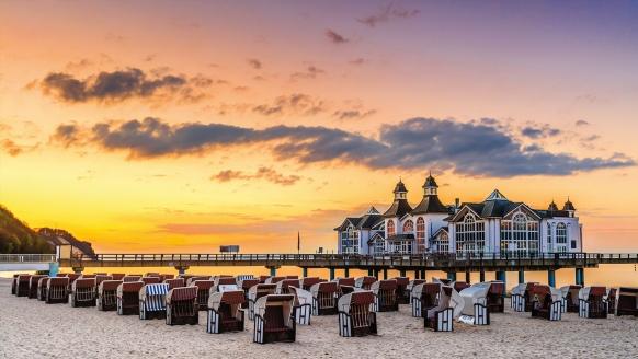 Hotel Jägerhof in Lancken-Granitz auf Rügen, Strand