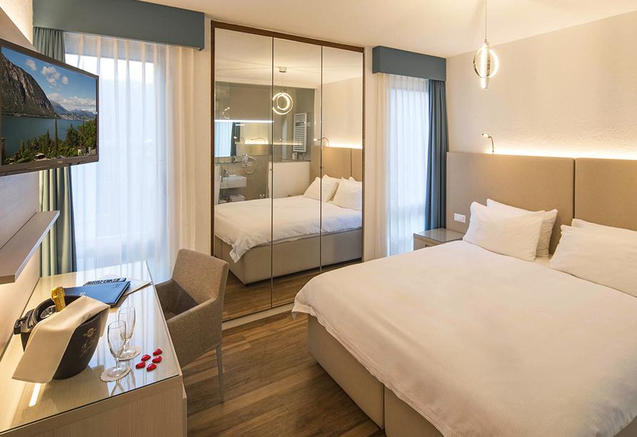 Rundreise Schweizer Seenzauber, Beispiel eines Doppelzimmers im Hotel Campione