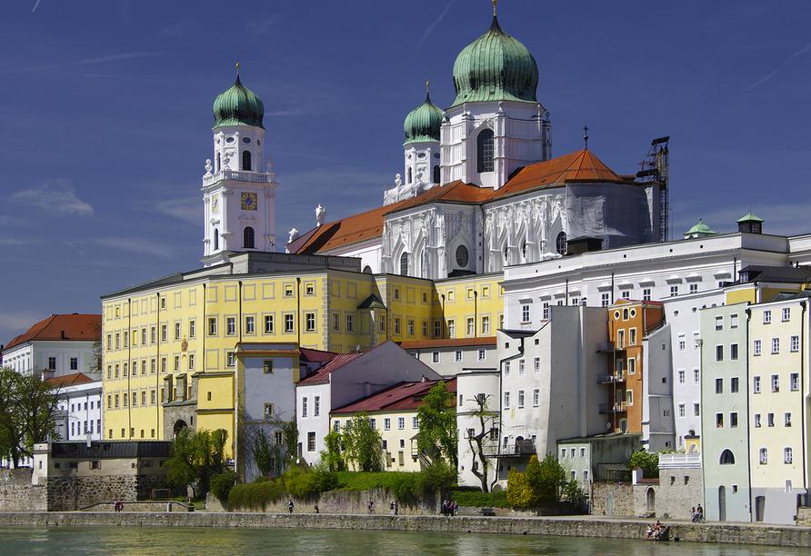 Hotel Würdinger Hof in Bad Füssing im Bäderdreieck, Ausflugsziel Passau