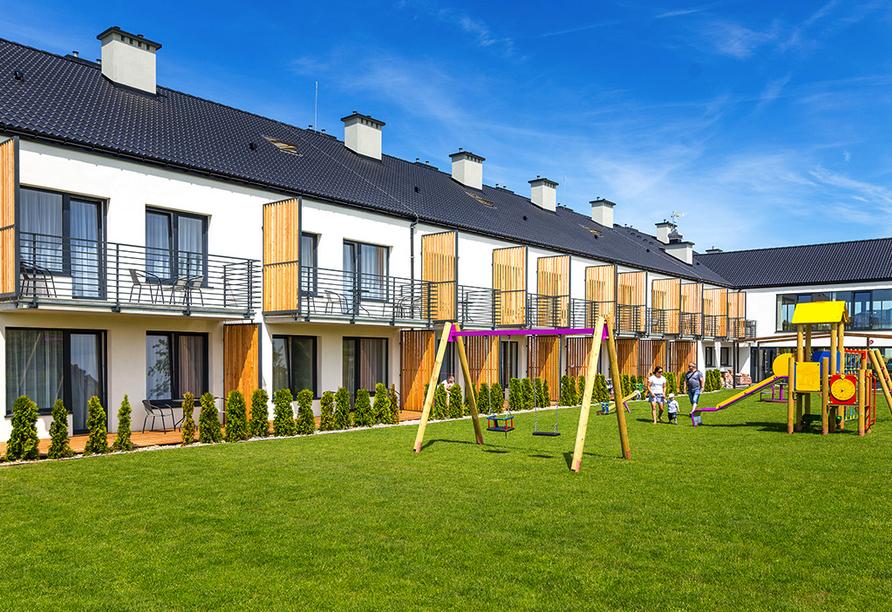 Hotel Siesta, Gribow, Polnische Ostsee, Polen, Kinderspielplatz