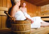 Hotel Siesta, Gribow, Polnische Ostsee, Polen, Sauna