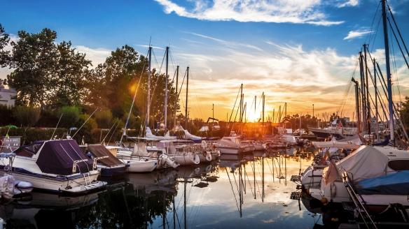 Hotel Camay in Cesenatico, Adria, Italien, Boote im Hafen
