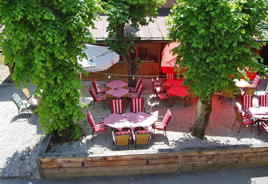 Hotel Heitzmann in Mittersill, Terrasse