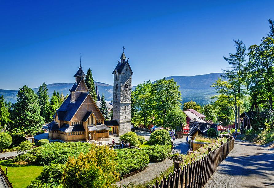 Hotel Sandra Spa Karpacz Riesengebirge Polen, Kirche