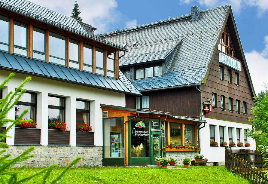 Ferienhotel Mühlleithen in Klingenthal im Vogtland Außenansicht