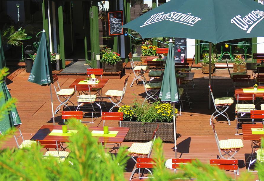 Ferienhotel Mühlleithen in Klingenthal im Vogtland Biergarten