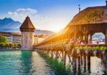 Rundreise Schweizer Seenzauber, Kapellbrücke Luzern