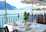 Rundreise Schweizer Seenzauber, Terrasse  Hotel Central am See & Hotel Frohburg