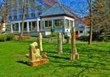 Hotel Krakonos in Marienbad, Garten