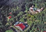 Hotel Krakonos in Marienbad, Luftansicht