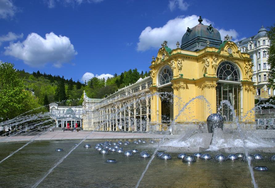 Hotel La Passionaria in Marienbad in Tschechien, Ausflugsziel Singende Fontäne
