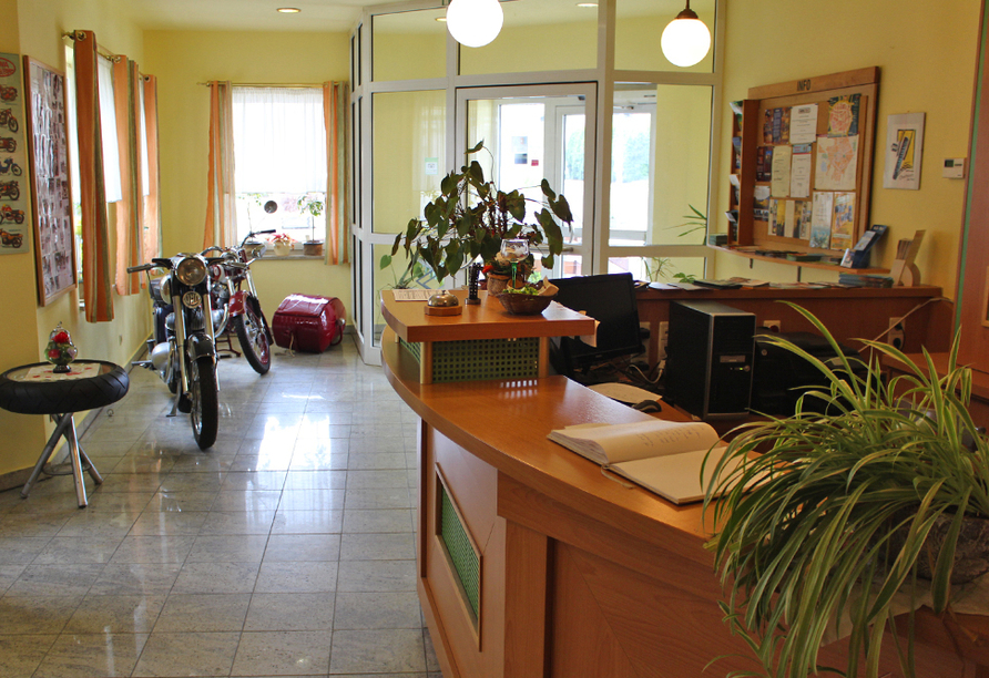 Hotel Riedel in Zittau in der Oberlausitz Empfang