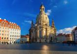 Landhotel Zur Klinke in Bretnig in der Oberlausitz, Frauenkirche Dresden
