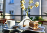 Hotel Jantar Spa in Kolberg, Kaffee und Kuchen