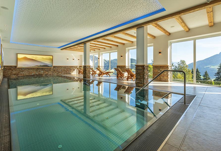 Hotel Almhof-Fichtenhof in Wildschönau-Thierbach in Tirol, Hallenbad