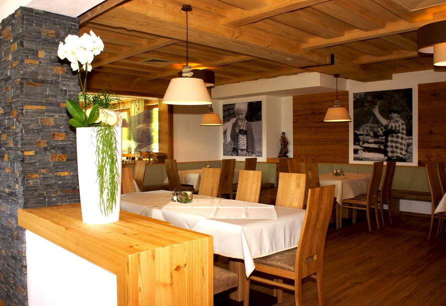 Hotel Almhof-Fichtenhof in Wildschönau-Thierbach in Tirol Restaurant