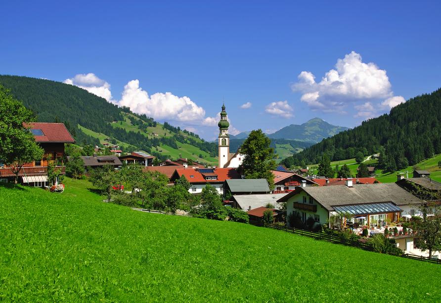 Hotel Almhof-Fichtenhof in Wildschönau-Thierbach in Tirol Aussicht
