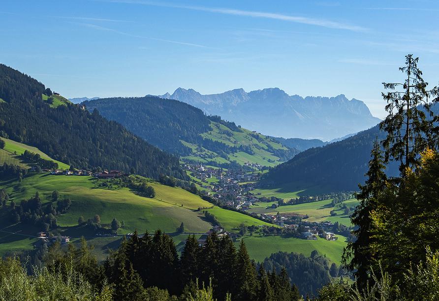 Hotel Almhof-Fichtenhof in Wildschönau-Thierbach in Tirol, Aussicht