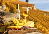 Hotel Monti San Baronto, Wein und Käse