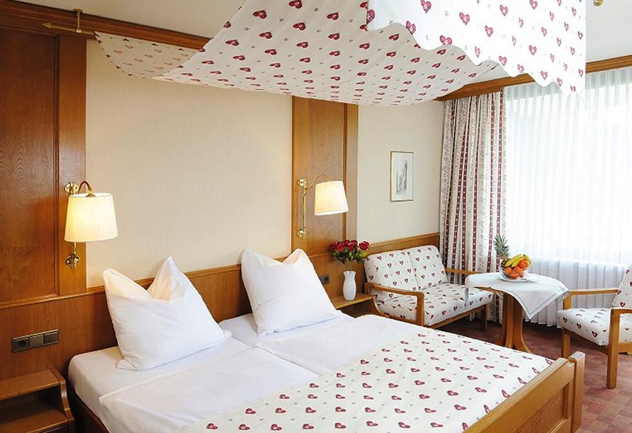 Hotel Bad Stebener Hof in Bad Steben in Oberfranken, Zimmerbeispiel