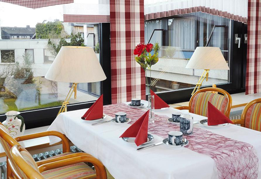 Hotel Bad Stebener Hof in Bad Steben in Oberfranken, Frühstücksraum