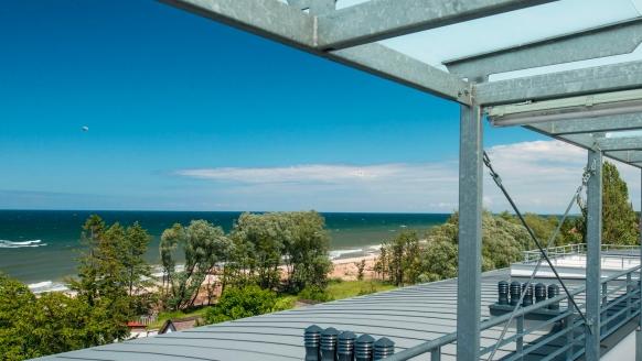 Atrium SPA Apartamenty in Sarbinowo an der polnischen Ostsee Blick