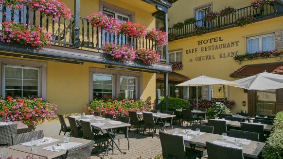 BEST WESTERN Plus Hotel Au Cheval Blanc Mulhouse Nord in Baldersheim, Terrasse