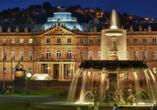 Pullman Hotel Stuttgart Fontana, Stuttgart, Springbrunnen vor dem Neuen Schloss