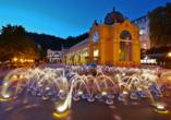Hotel Excelsior in Marienbad, Wasserspiel