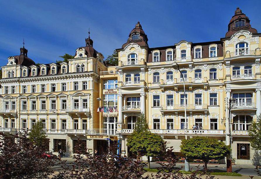 Hotel Excelsior in Marienbad, Aussenansicht