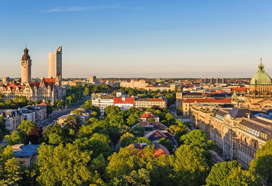 Hotel Residenz in Leipzig-Hohenheida, Panorama Leipzig