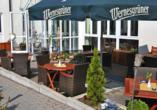 Hotel Residenz in Leipzig-Hohenheida, Terrasse