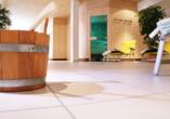 Genießen Sie entspannte Stunden im Saunabereich des aqualux Wellnesshotels.